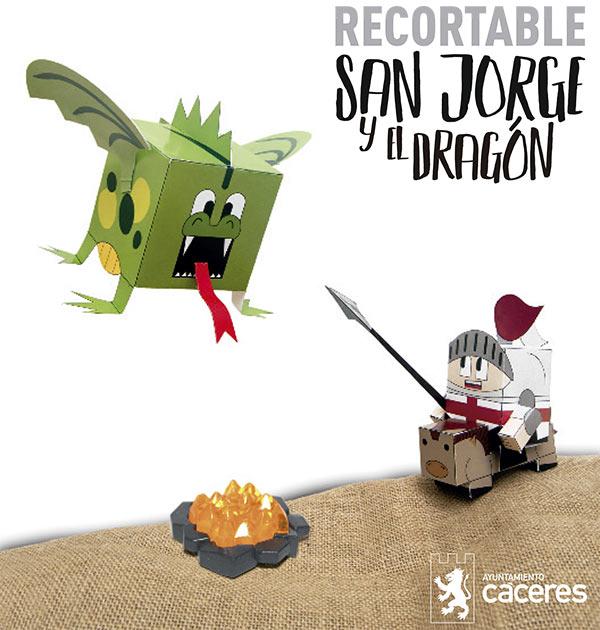 recortable-jorge-y-el-dragon